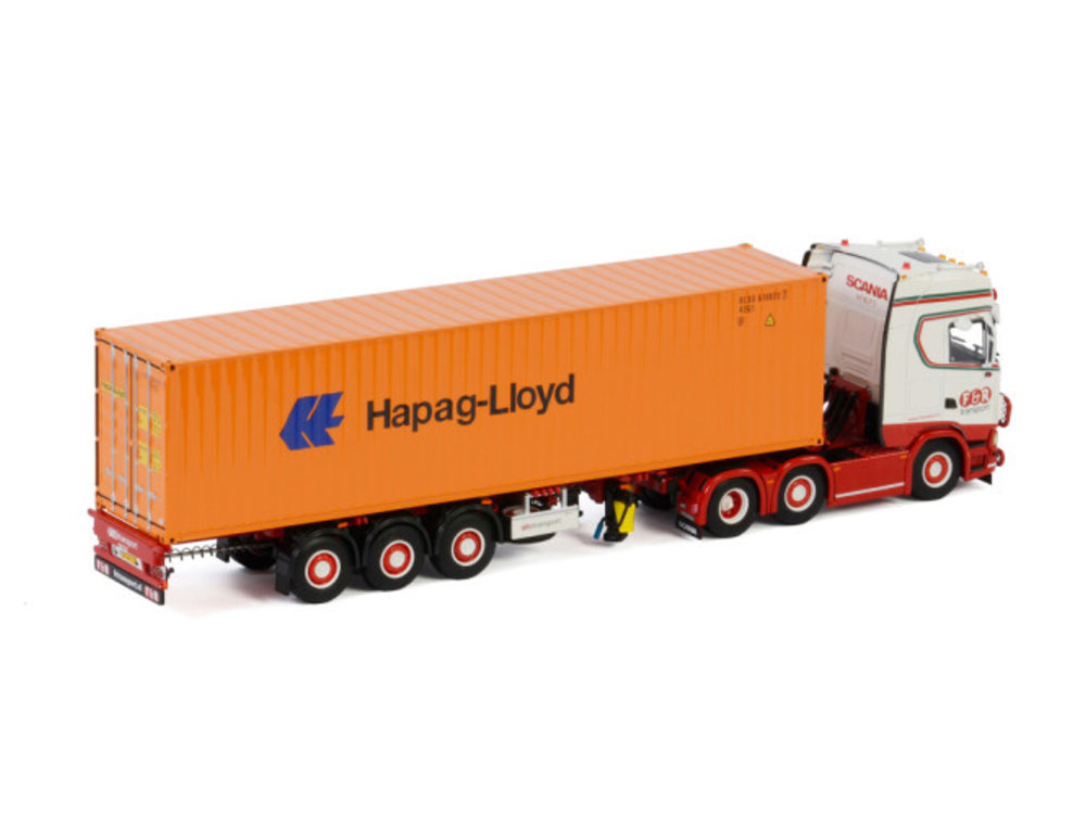 WSI WSI Scania S Highline with container trailer 40ft. F&R Transport