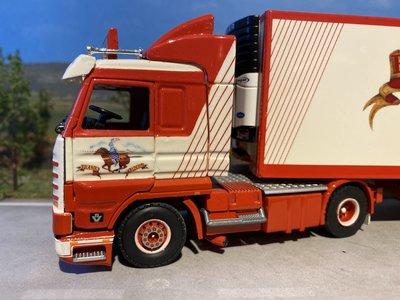 Tekno Tekno Scania 143 streamliner met koeloplegger Frank de Ridder