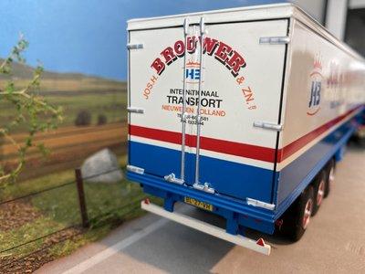 WSI WSI DAF 2800 met box trailer Jos H Brouwer