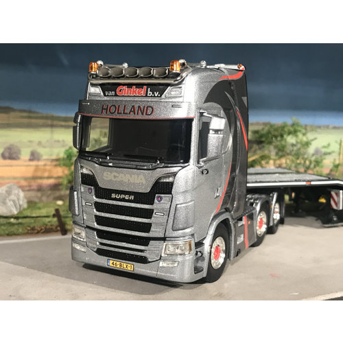 "WSI **ACTIE** WSI Scania S Highline 6x2 met semi-lowloader van Ginkel ""EXCLUSIVE MODEL"""