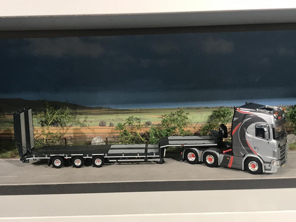 """WSI **ACTIE** WSI Scania S Highline 6x2 met semi-lowloader van Ginkel """"EXCLUSIVE MODEL"""""""