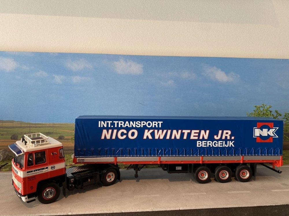 Tekno Tekno Scania 1-serie met Klassieke huifoplegger Nico Kwinten