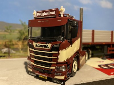 Tekno Tekno Scania R650 next Gen with stone trailer Duijghuijzen