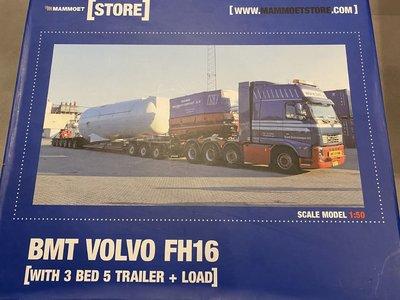 Mammoet store Tekno Volvo FH03 glob met Goldhofer + Siemens turbine BMT