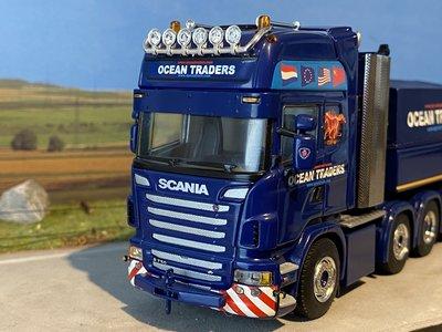 WSI WSI Scania R Topline 8x4 + Ballast bak Ocean Traders