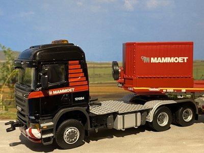 Mammoet store WSI Scania R6 6x6 + 5 axle low loader + wooden box Mammoet
