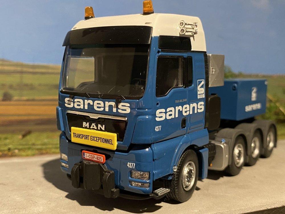 Sarens store WSI MAN TGX XXL 8x4 with ballastbox Sarens