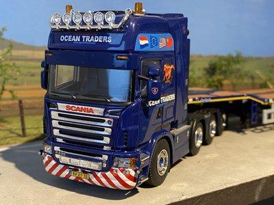 WSI WSI Scania R620 Topline 8x4 met Telestep trailer Ocean Traders