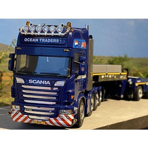 WSI WSI Scania R730 Topline 10x4 met Pendel X + dolly Ocean Traders