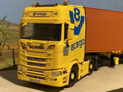 WSI WSI/HERPA Scania S580 Highline 6x2 met container oplegger Acargo