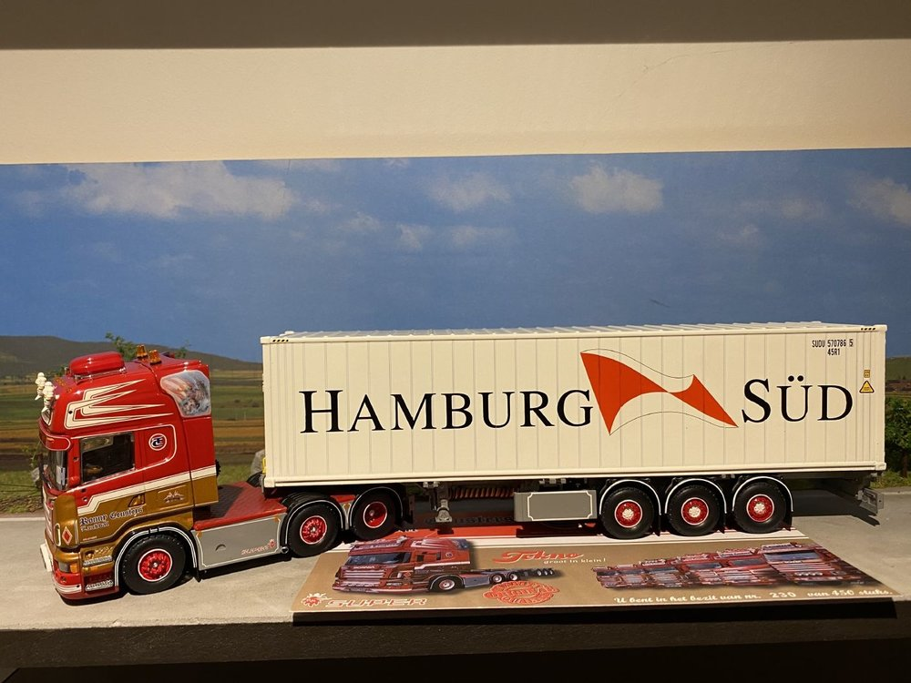 Tekno Tekno Scania R Topline 6x2 + D-tec container chassis Ronny Ceusters