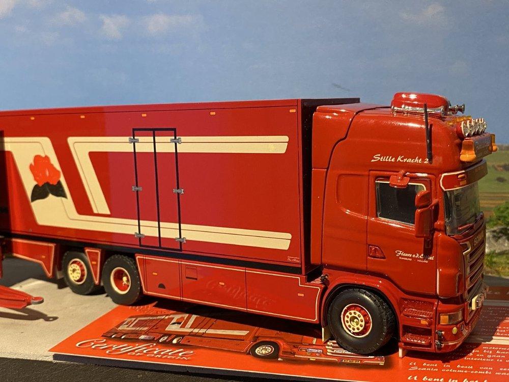 Tekno Tekno Scania R Topline Motorwagen aanhanger Fleurs van den Eijkel