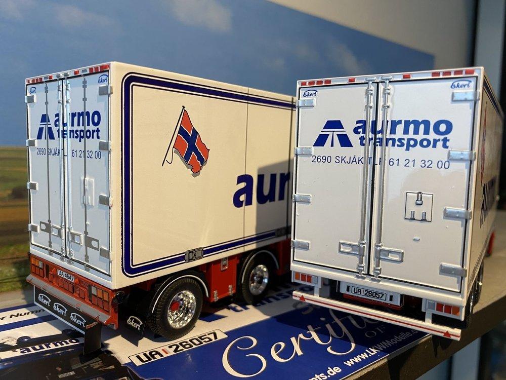 Tekno Tekno Scania R Topline motorwagen met aanhanger Aurmo