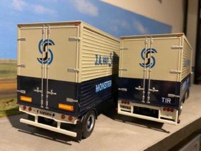 Tekno Tekno Volvo F88 motorwagen met aanhanger van Spronsen