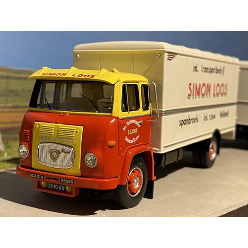 Tekno Tekno Scania LB76 motorwagen met aanhanger Simon Loos