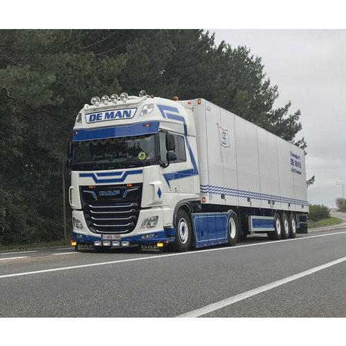 WSI WSI DAF 106XF SSC 4x2 met box trailer de Man