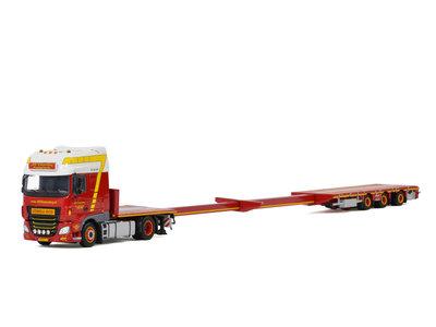 WSI WSI DAF XF SSC 4x2 megatrailer flatbed 3-axle Alb. Swijnenburg