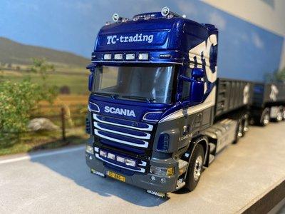 WSI WSI Scania R6 Topline hooklift system / rigid truck / drawbar + hooklift container 20m3 TC Trading