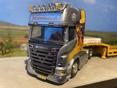 IMC Tekno Scania R Topline with semi lowloader Krommenhoek