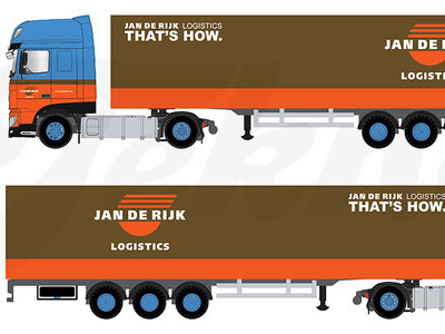 Tekno Tekno DAF XF Super Space Cab Euro 6  with box trailer Jan de Rijk