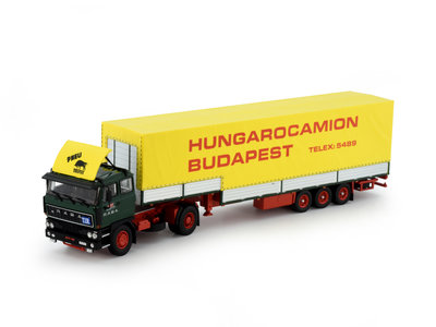 Tekno Tekno Raba with 3-axle stepframe trailer Hungarocamion