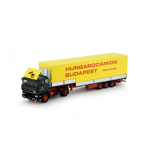 Tekno Tekno Raba met 3-assige stepframe trailer Hungarocamion