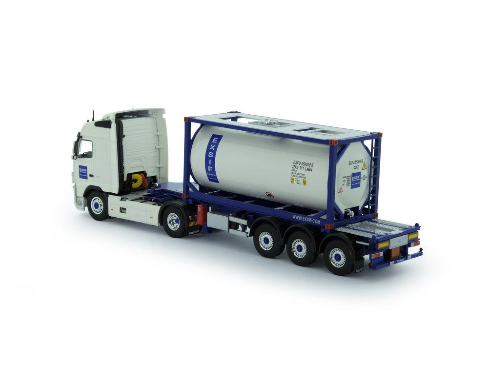 Tekno Tekno Volvo FH03 Globetrotter met ISO tankcontainer Exsif