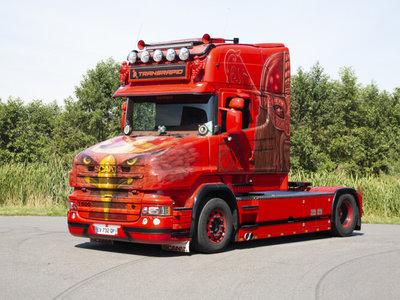 WSI WSI  Scania 4 series Torpedo Topline 4x2 Transrapid