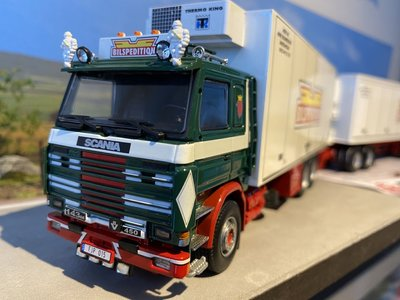 Tekno Tekno Scania 143M Zweedse combinatie LZV Bilspedition
