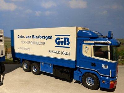 Tekno Tekno Scania 124L/420 motorwagen met aanhanger Gebr. van Binsbergen