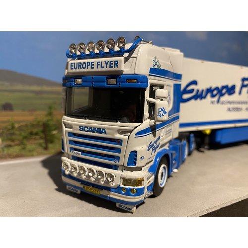 WSI WSI Scania R500 Topline 6x2 met koeloplegger Europe Flyer