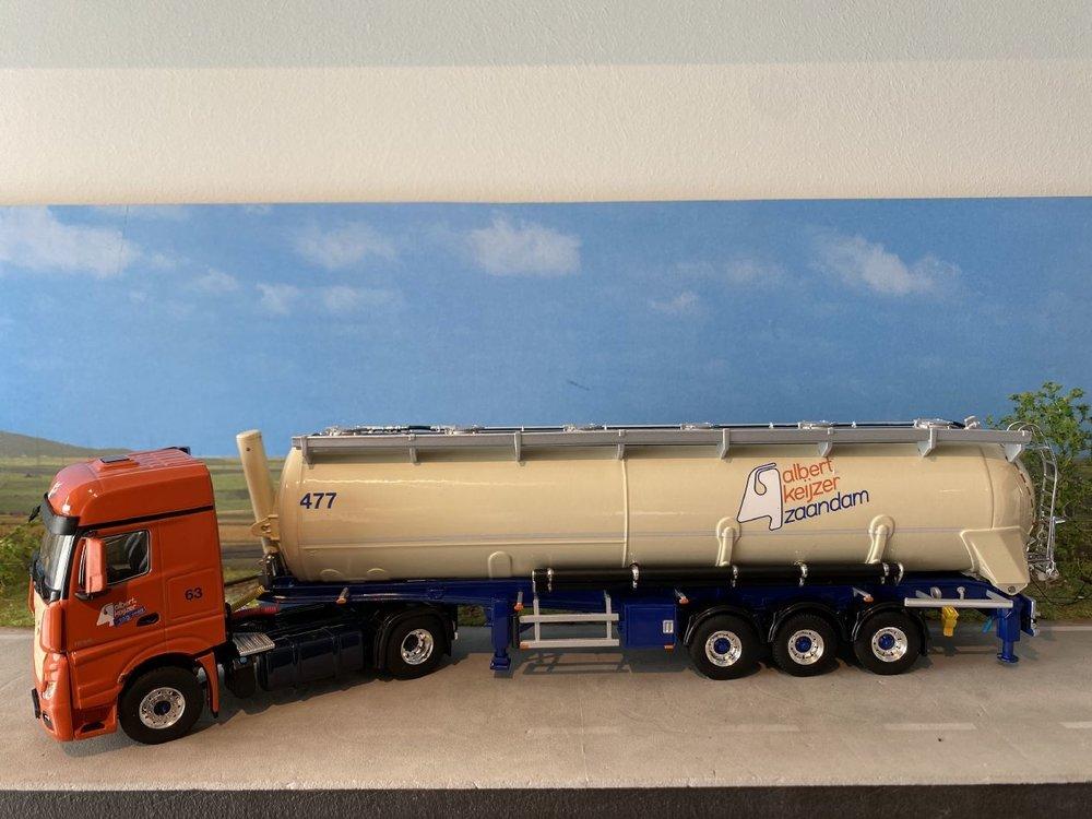 WSI WSI MB Actros MP4 Big Space 4x2 met bulk trailer Albert Keijzer