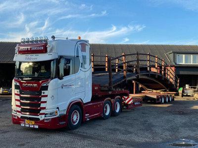 WSI WSI  Scania S Highline 6x2 3-assige semi dieplader Heger & Janssen