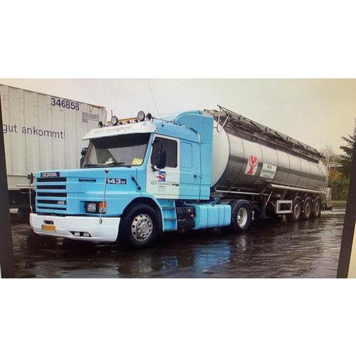 WSI WSI  Scania 3-serie streamline Torpedo met 3-assige chromen tanktrailer H&S Group