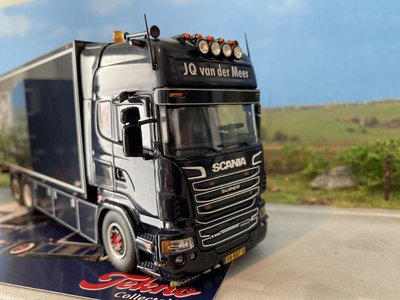 Tekno Tekno Scania R Topline motorwagen met aanhanger JQ van der Meer