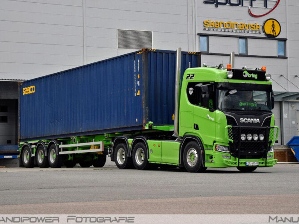 WSI WSI SCANIA R 6x2 container oplegger BRING