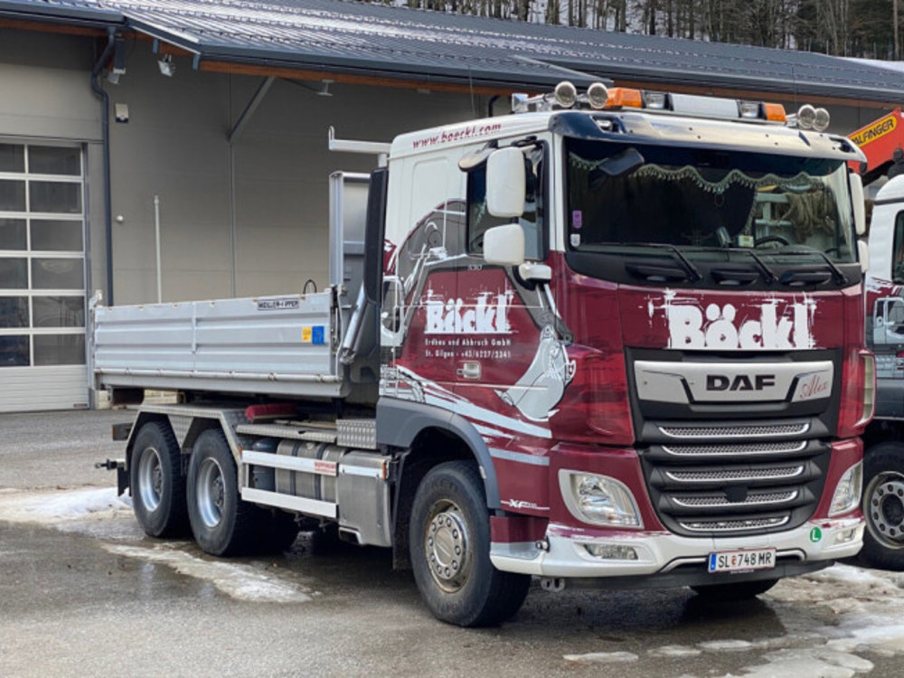 WSI WSI  DAF XF comfort cab 6x4 haaklift systeem + 15m3 container Böckl