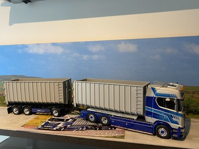 Tekno Tekno Scania S-serie S730 Highline motorwagen met haakarm combi Klein Kromhof
