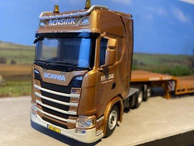 WSI WSI Scania S Highline 6x2 met dieplader Rensink
