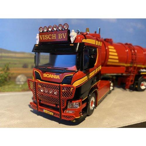 WSI WSI Scania R Normal 4x2 + Tank trailer vacuum 3-axle Visch