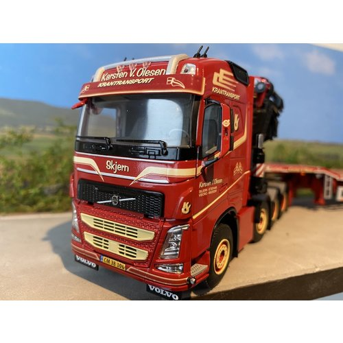 WSI WSI Volvo FH4 Glob. 8x4 Fassi 1100 jib 4-axle telestep trailer Karsten V. Olesen