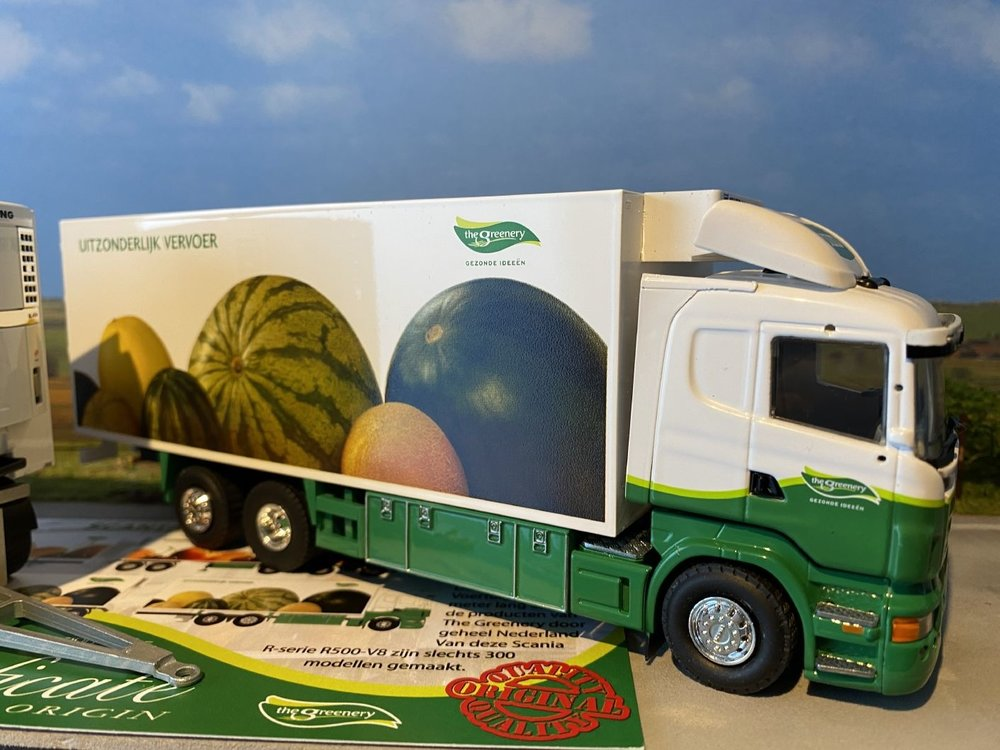 Tekno Tekno Scania R500-V8 vrachtwagen met aanhanger LZV uitvoering the Greenery