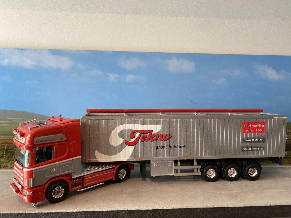 Tekno Tekno Scania 164G Topline met cargo floor oplegger Paauwe