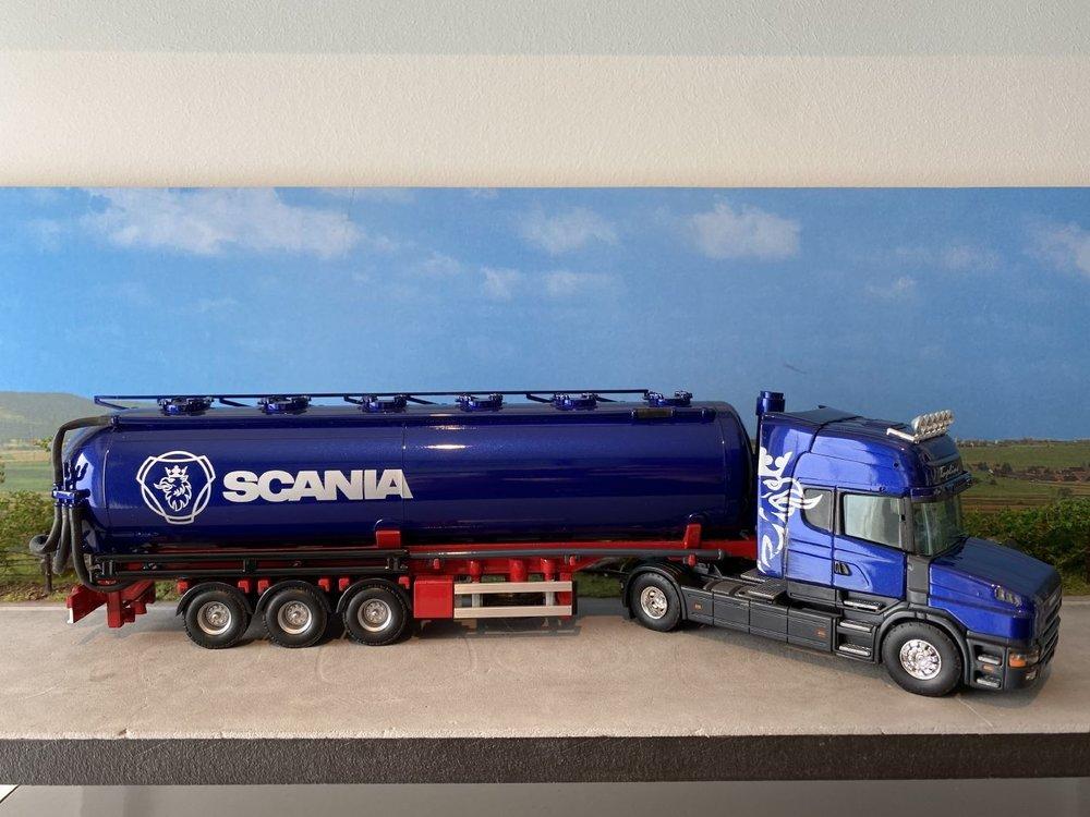 Tekno Tekno Scania 164L Topline Torpedo met bulkoplegger Demo model