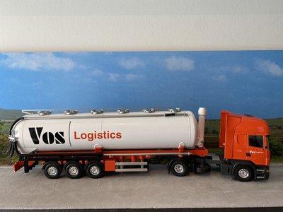 Tekno Tekno Scania R380 Topline met silo oplegger Vos Logistics