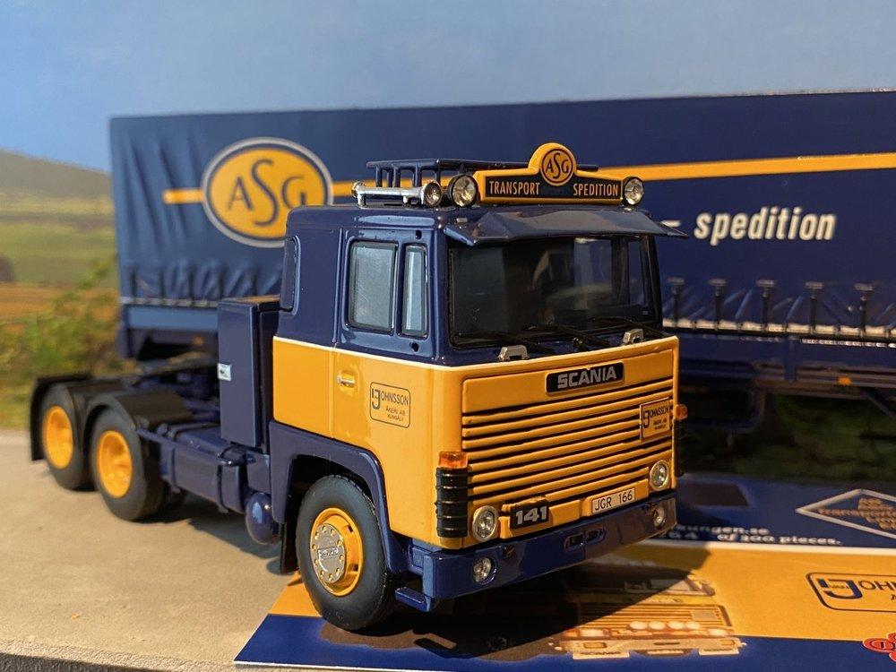 Tekno Tekno Scania 141 & 143H met klassieke huifoplegger ASG set