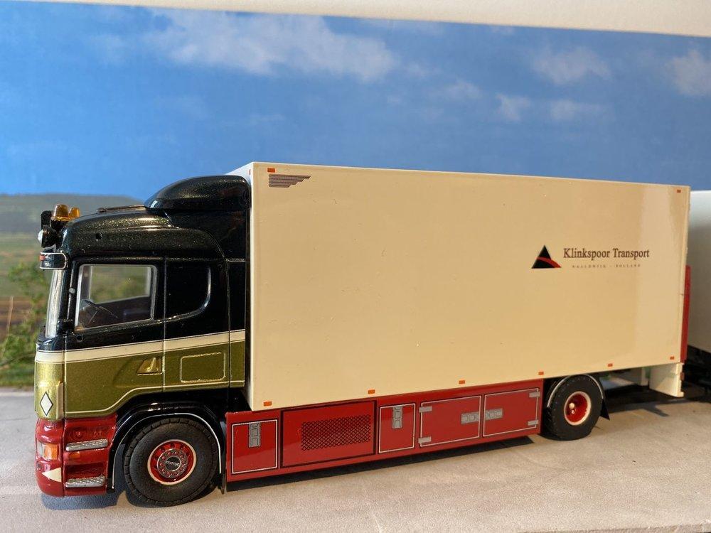 Tekno Tekno Scania R500 Highline motorwagen met aanhanger Arno Klinkspoor