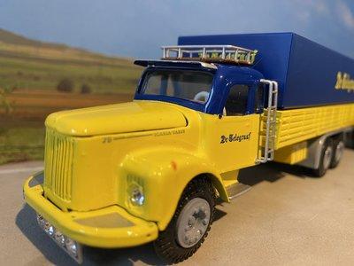Tekno Tekno Scania Vabis LS76  6x2 voorwagen met 2-as wipkar de Telegraaf