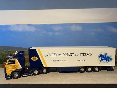 Tekno Tekno Scania 143M streamline 6x2 met koeloplegger Dinant van Iterson