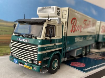Tekno Tekno Scania 112H motorwagen met schamel Booy Twello